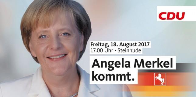 Angela Merkel kommt nach Steinhude – seien Sie dabei!
